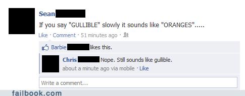 gullible,oranges