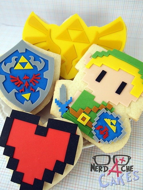 Om Nom Nom of the day: Legend of Zelda Cookies