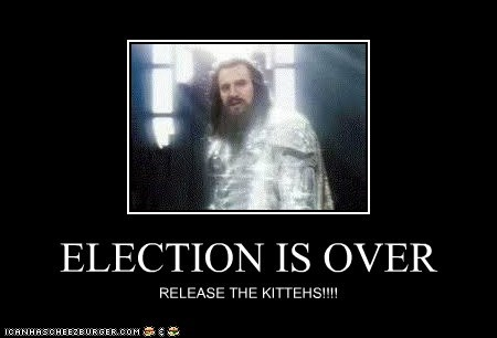 ELECTION IS OVER
