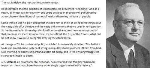inventers,thomas midgley,gasoline