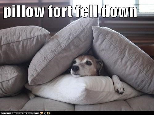 pillow fort fell down
