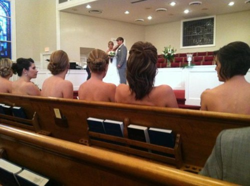 naughty,bridesmaids,pew,church,topless