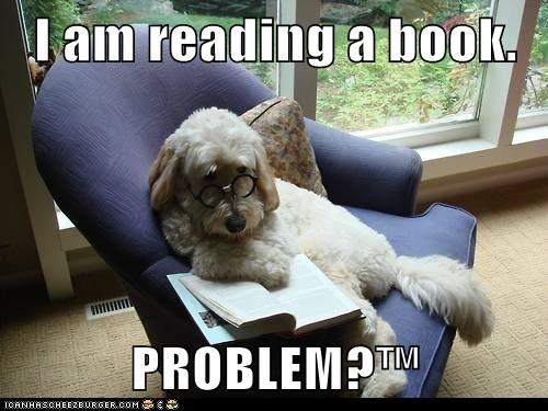 I am reading a book.  PROBLEM?™
