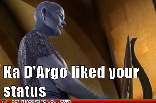Ka D'Argo commented on your status