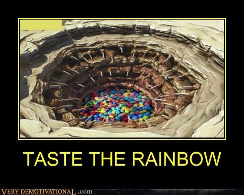 skittles,sarlacc pit,rainbow