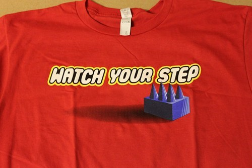 stepping on legos,lego,T.Shirt