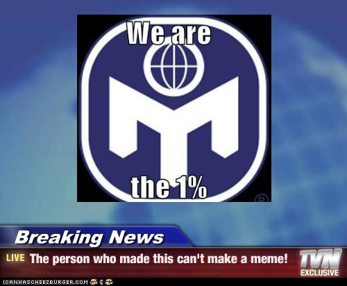 Breaking News - The person who made this can't make a meme!