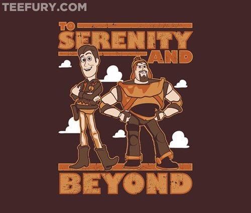 woody,toy story,T.Shirt,serenity,buzz lightyear,Firefly,too infinity and beyond