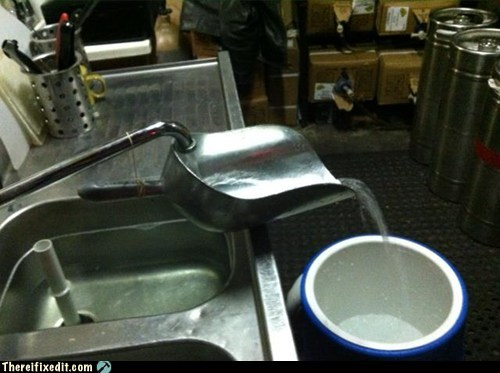 cooler,workaround,sink,faucet