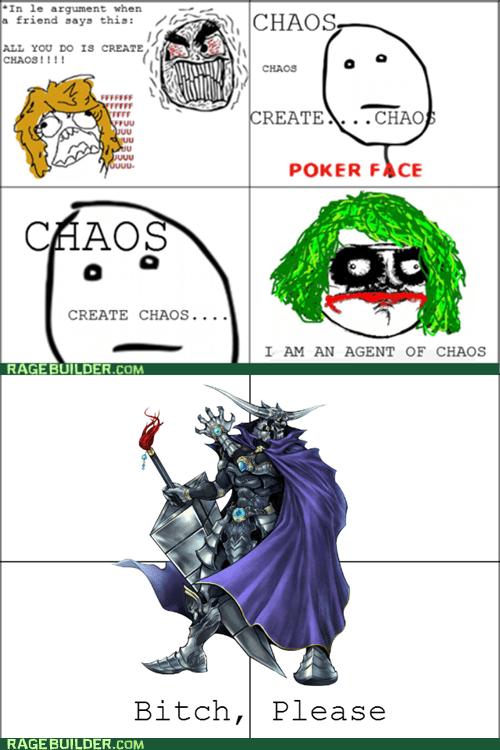 chaos,poker face,re-frames,final fantasy,garland