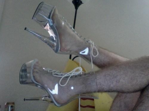 hairy legs,high heels,stripper heels