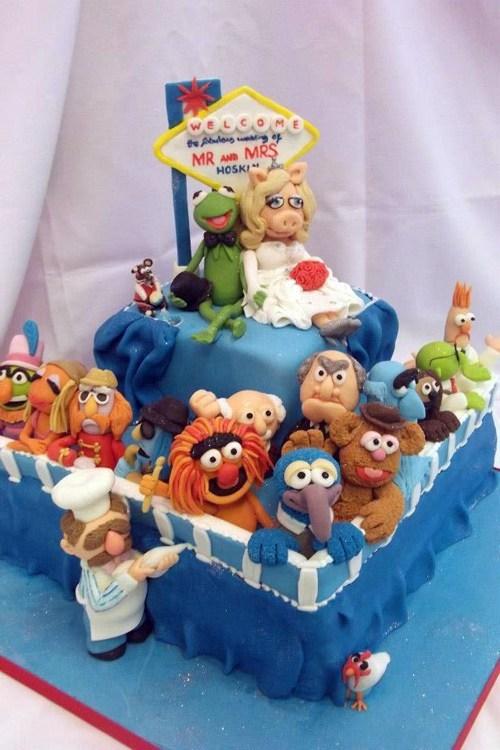 cake,vegas,muppets,fondant