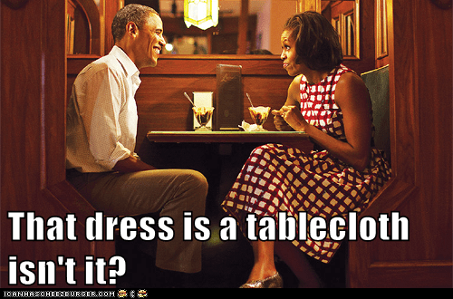 That dress is a tablecloth isn't it?