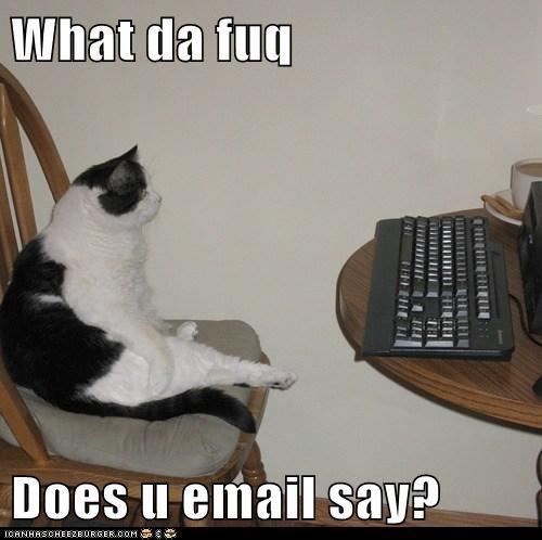 What da fuq  Does u email say?