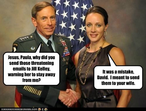 David Patraeus,paula broadwell,Jill Kelly,wife,overly attached girlfriend,emails,threatening,mistake