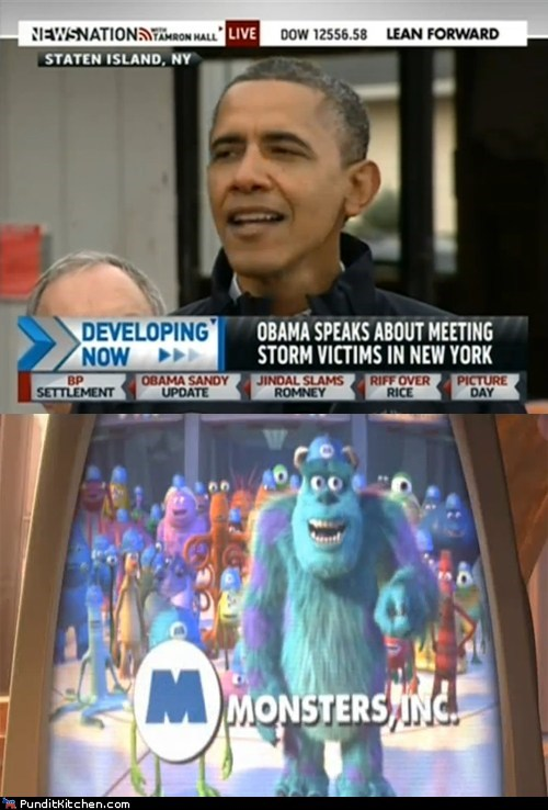face,michael bloomberg,monsters inc,press conference,covered,barack obama