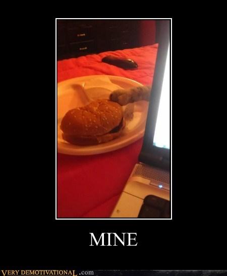 cat,burger,mine