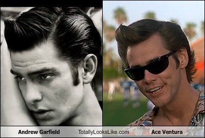 Andrew Garfield Totally Looks Like Jim Carrey (Ace Ventura)