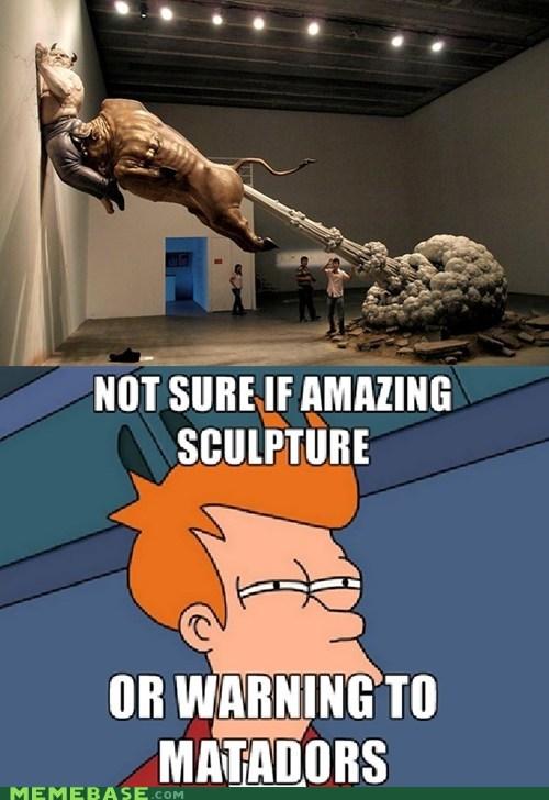 not sure if,sculpture,Futurama Fry