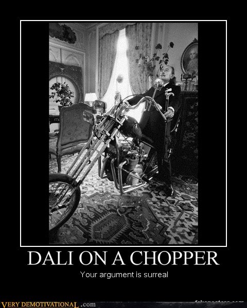DALI ON A CHOPPER