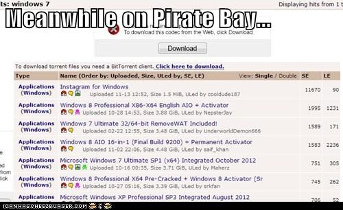 Meanwhile on Pirate Bay...