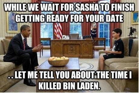 killed,date,kid,waiting,Osama Bin Laden,barack obama,daughter,Father
