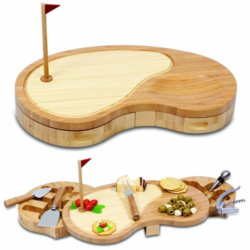 golf,wood,cheese board
