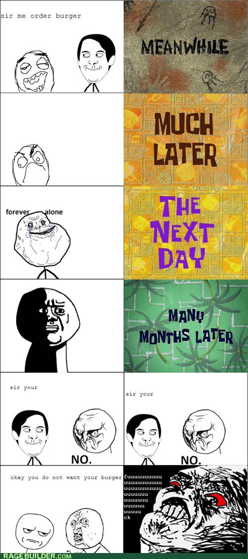 impatiently