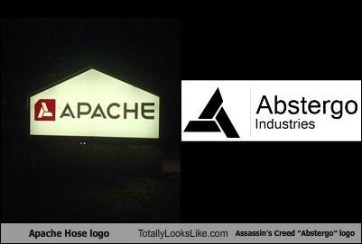 "Apache Hose Logo Totally Looks Like Assassin's Creed ""Abstergo"" Logo"