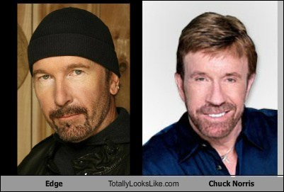 Edge (U2) Totally Looks Like Chuck Norris