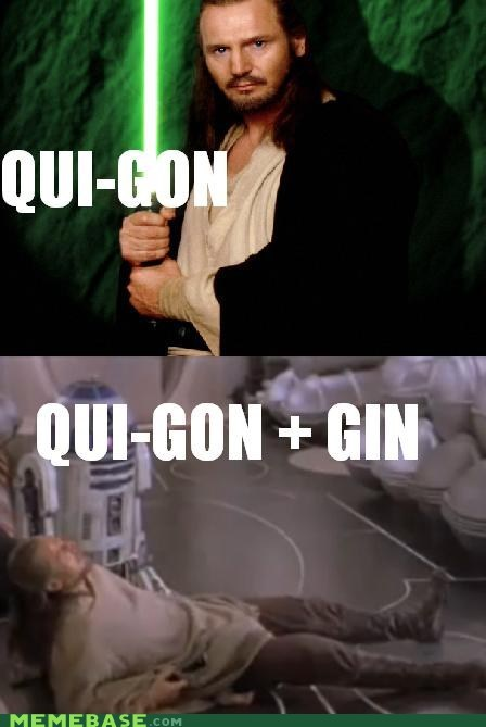 Quite gone with gin