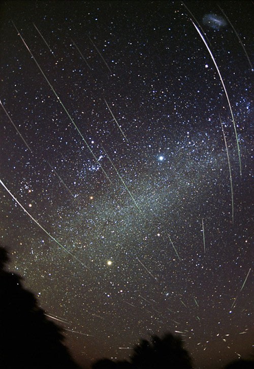 Space Shot of the Day: Leonids Meteor Shower