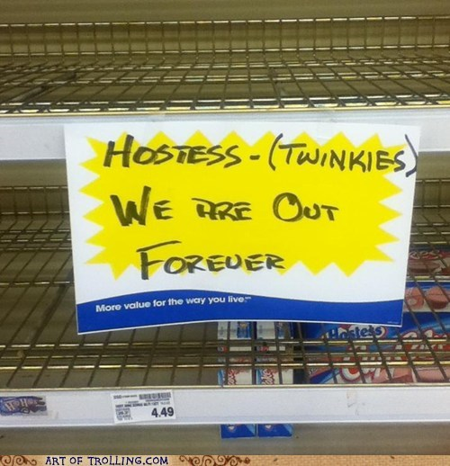 Rest in Peace, Our Beloved Twinkies