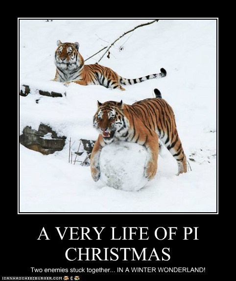 christmas,life of pi,snow,tigers,enemies,winter