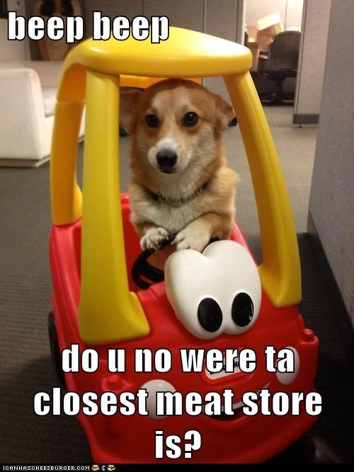 beep beep  do u no were ta closest meat store is?