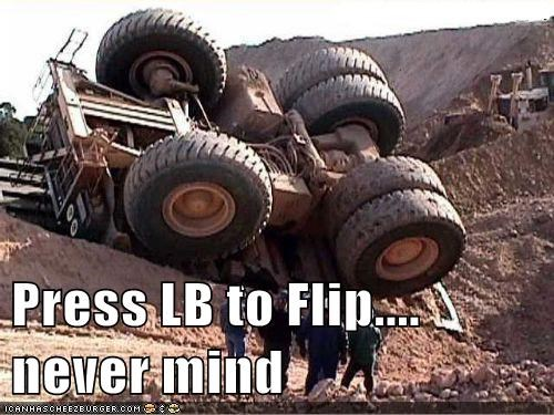 Press LB to Flip.... never mind