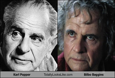 Karl Popper Totally Looks Like Ian Holm (Bilbo Baggins)