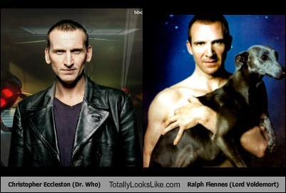 Christopher Eccleston (Doctor Who) Totally Looks Like Ralph Fiennes (Lord Voldemort)