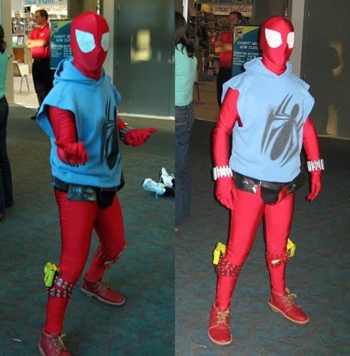 Spider-Man,scarlet spider,costume