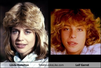 Linda Hamilton Totally Looks Like Leif Garrett