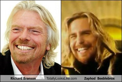 Sir Richard Branson Totally Looks Like Sam Rockwell (Zaphod Beeblebrox)