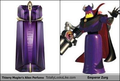 Thierry Mugler's Alien Perfume Totally Looks Like Emperor Zurg