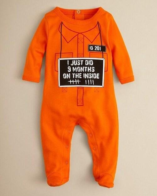 onesie,baby clothes,prison