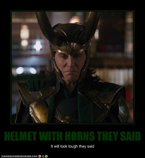 HELMET WITH HORNS THEY SAID