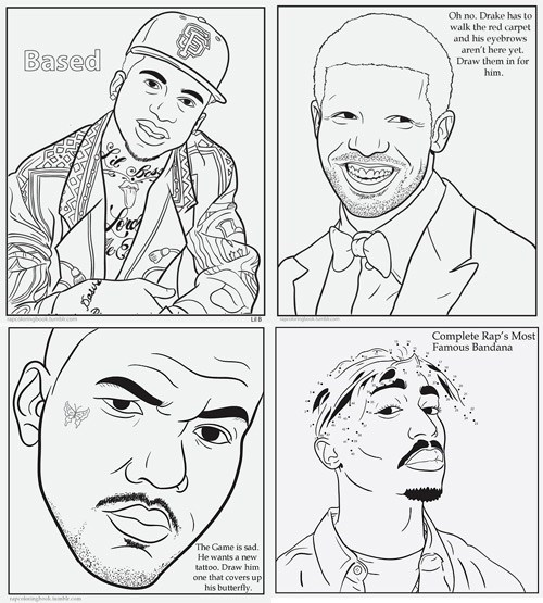 Single Topic Blog of the Day: Rap Coloring Book