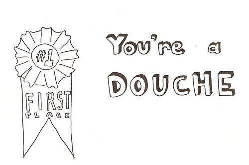 douche,congrats,award,first place