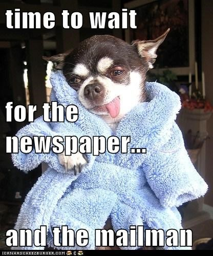 time to wait for the newspaper... and the mailman