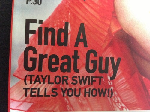 Dating Advice? From Taylor Swift? No Thanks...