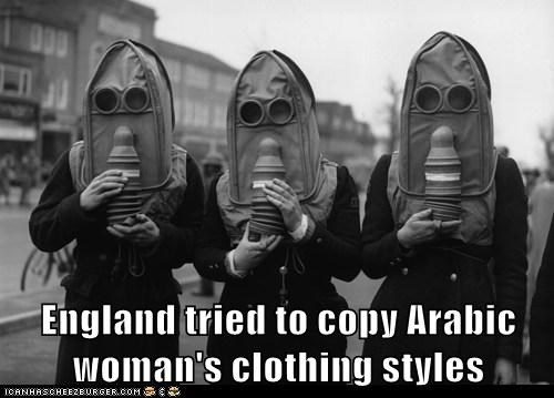 England tried to copy Arabic woman's clothing styles