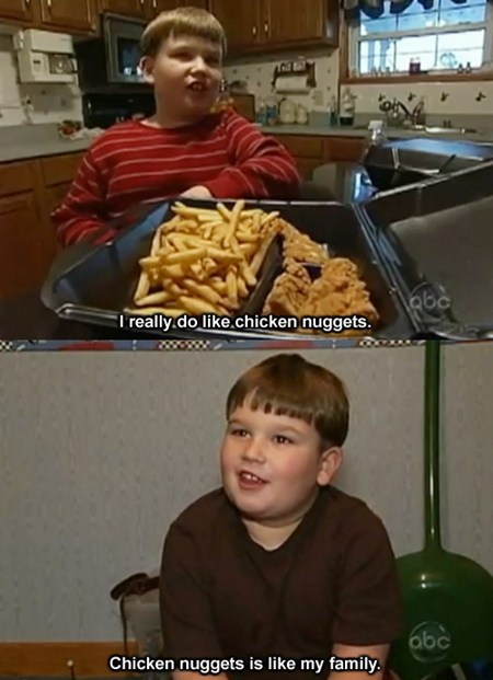 kids,love,family,fast food,chicken nuggets